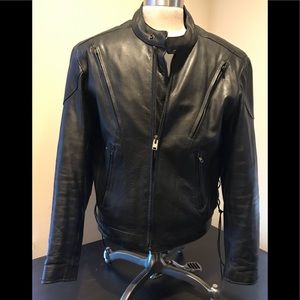 Wilson Leather Motorcycle Jacket removable lining